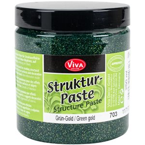 Viva Decor Structure Paste 8.45oz Green Gold