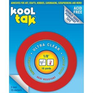 """Kool Tak Ultra Clear Tape .125""""X16yd"""